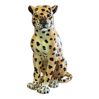 Terra Cotta Glazed Jaguar Figure