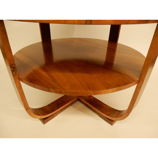 1930s Art Deco Walnut Side Table For Sale - Image 4 of 6