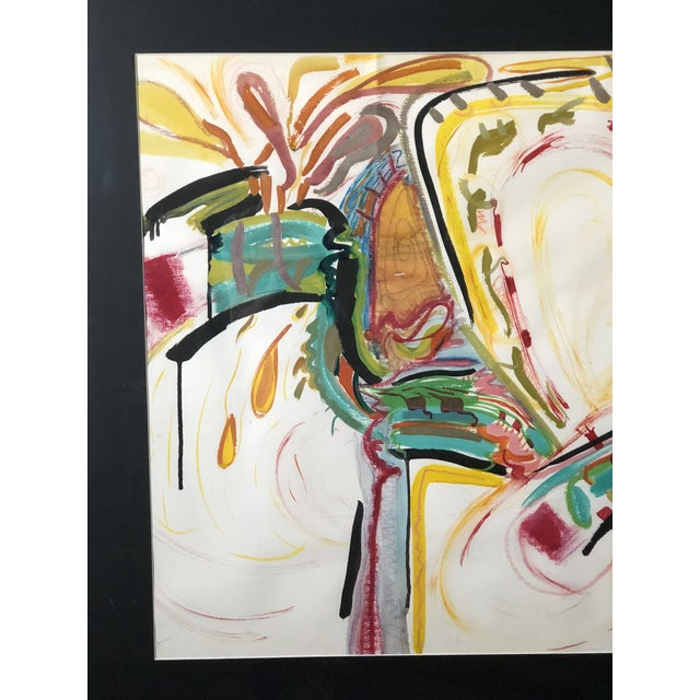 C1970s Bold and Colorful Abstract Painting For Sale In Atlanta - Image 6 of 12