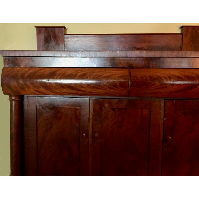 Antique Empire Style Mahogany Veneer Sideboard - Image 6 of 8