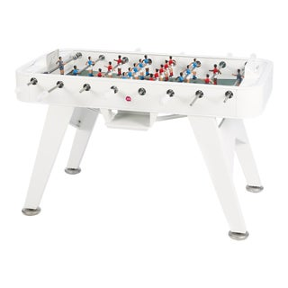 RS Barcelona Iron Foosball Table, White For Sale