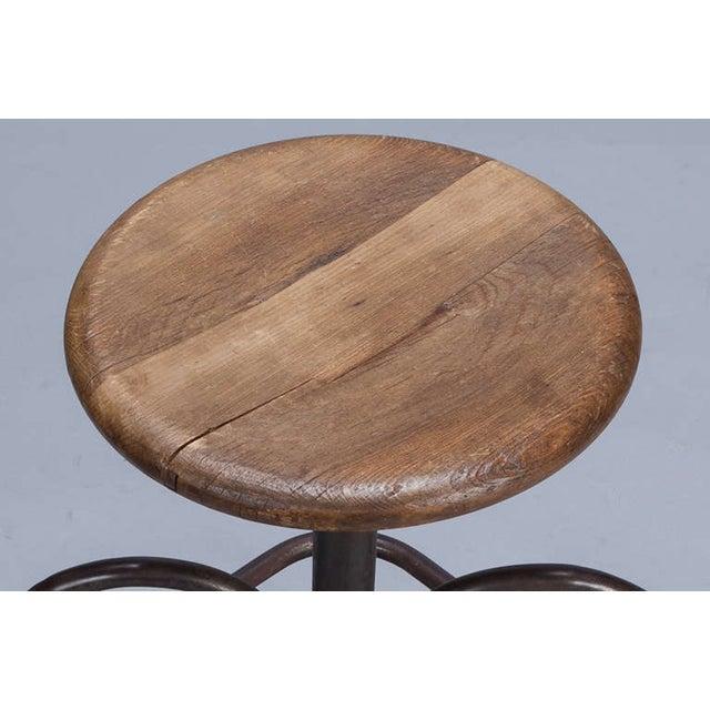 Vintage Wood & Steel Industrial Stool - Image 5 of 5