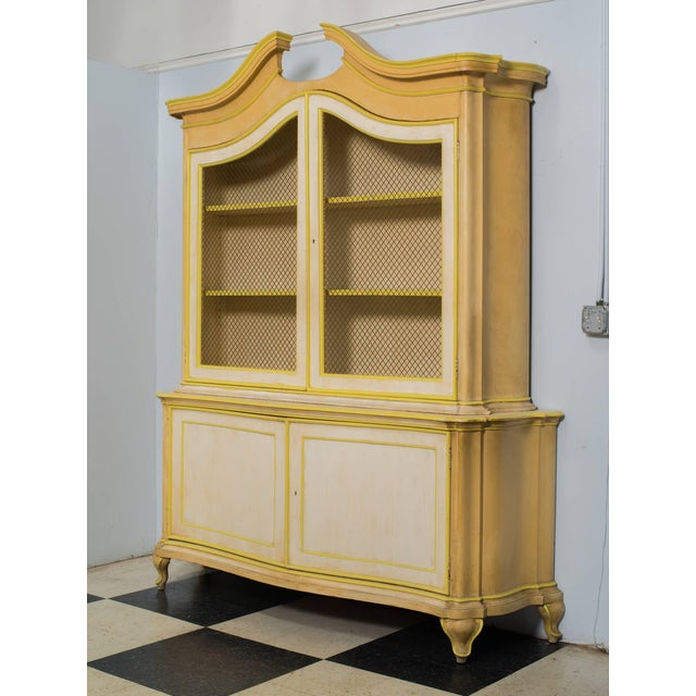 Large Italian Painted Cabinet Once Owned by Elizabeth Taylor For Sale - Image 4 of 6