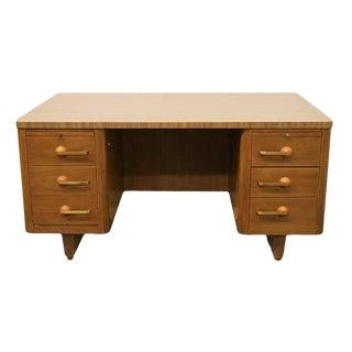 Stow & Davis Grand Rapids Harwood Progression Series Desk For Sale
