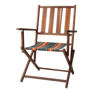 Mid Century Wooden Folding Chair For Sale