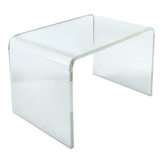 Mid-Century Modern Lucite Waterfall Side Table For Sale