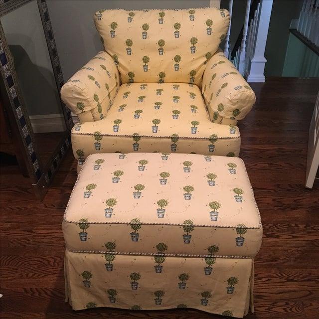 Miles Talbott Chair & Ottoman - Image 2 of 5