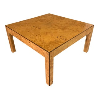 1950s Mid-Century Modern Burl Cocktail Table for W. J. Sloane of York For Sale