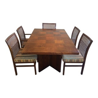 "Lane Mid-Century Modern Brutalist ""Staccato"" Dining Table & Chairs Set For Sale"