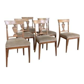 Set of Six Directoire Period Dining Chairs For Sale