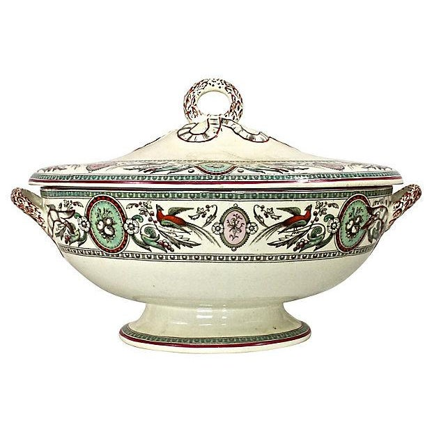 Antique French Chinoiserie Soup Tureen - Image 5 of 9