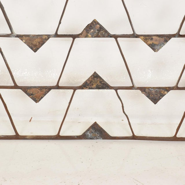 For your consideration, a Mexican Modernist Metal Art Room Divider Screen. Unmarked, no markings from the maker or...