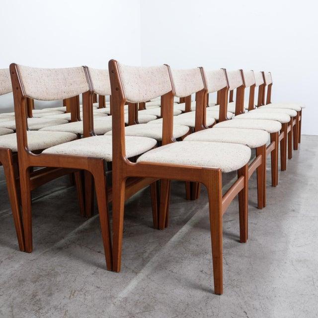 Midcentury Modern Upholstered Teak Dining Chairs Set Of 35 Chairish