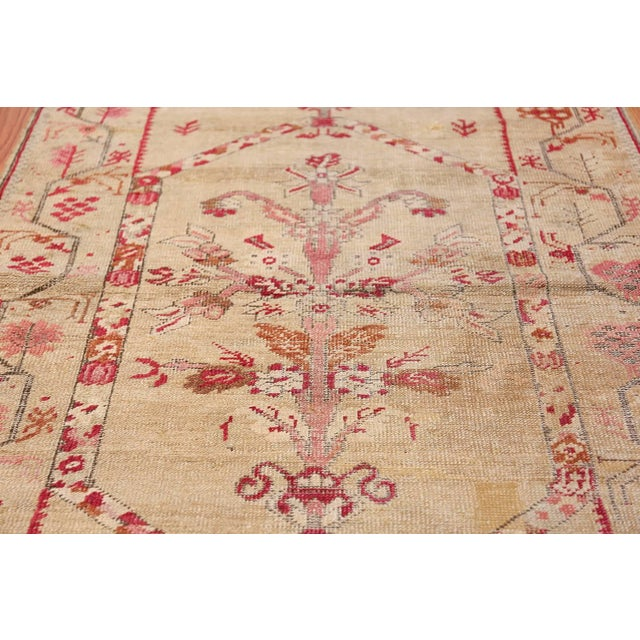 Antique Shabby Chic Tribal Turkish Ghiordes Rug - 3′5″ × 6′6″ For Sale - Image 9 of 10