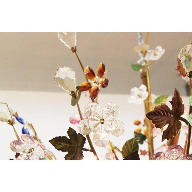 1970s Italian Mid-Century Modern Murano Glass Flower Bouquet Chandelier For Sale In New York - Image 6 of 13