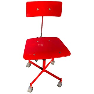 1960s Vintage Jørgen Rasmussen Danish Modern Kevi Model 311 Task Chair in Red For Sale