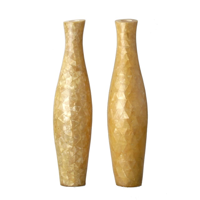 Capiz Shell Vases - A Pair - Image 9 of 9