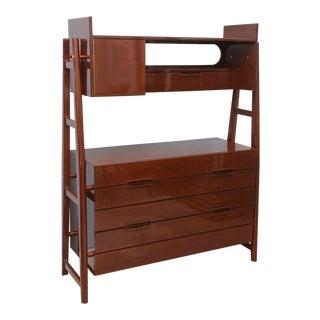 Italian Modern Mahogany Cabinet or Bookcase, Silvio Cavatorta For Sale
