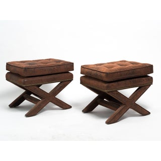 Billy Baldwin Style X-Benches - a Pair Preview