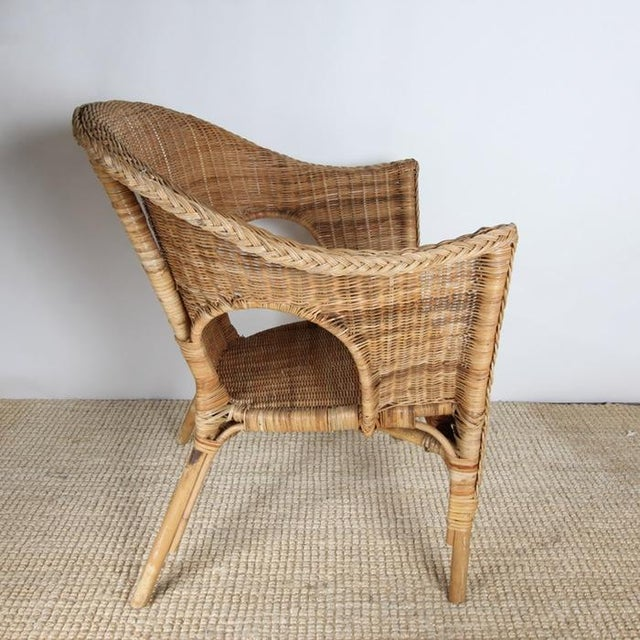 Wicker Patio Chairs with Cushions - A Pair - Image 6 of 8