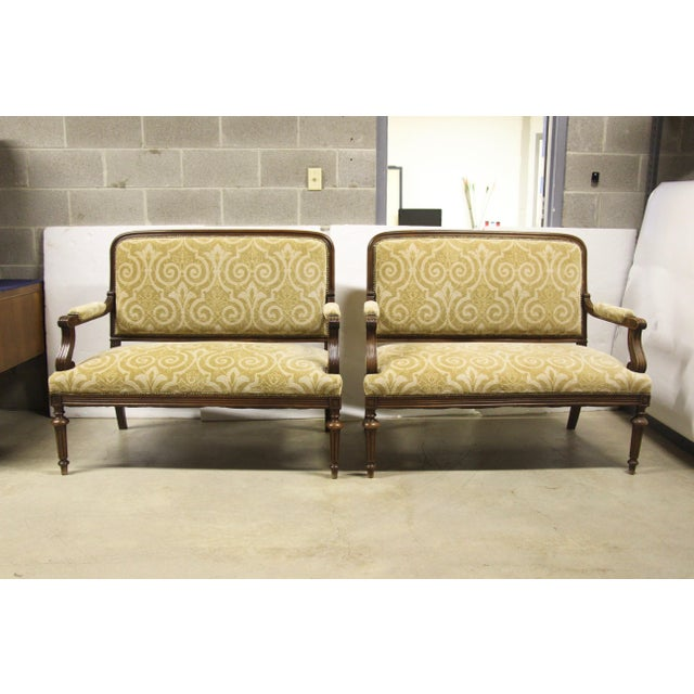 Metal Antique French Settee Benches, Pair For Sale - Image 7 of 7