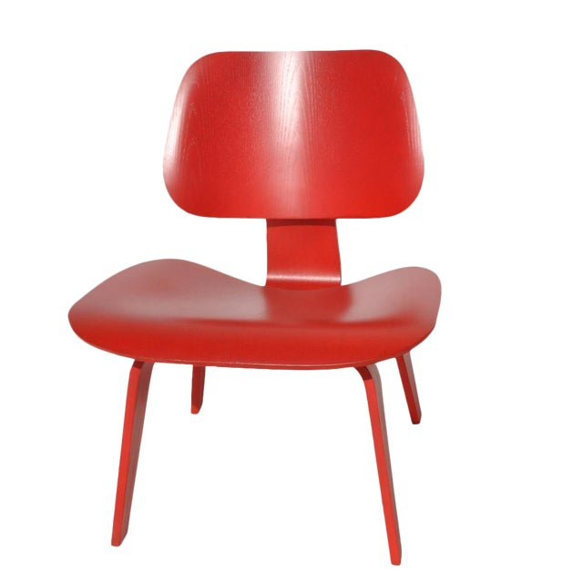 Red LCW Molded Lounge Chair - Image 1 of 6
