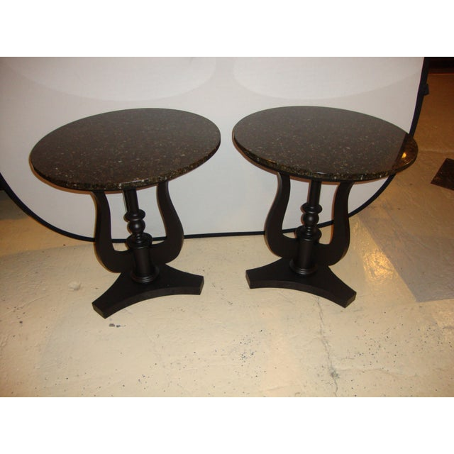 Art Deco Ebony Based End Tables - A Pair - Image 3 of 9