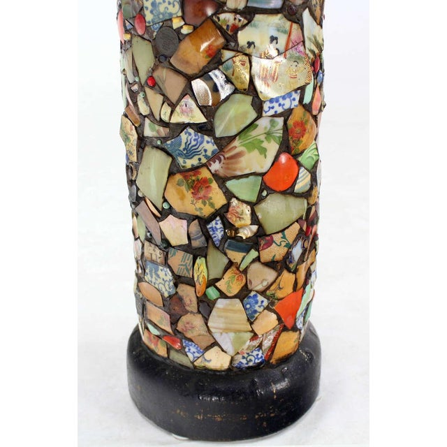 Mosaic Heavy Pottery Cane or Umbrella Stand - Image 8 of 10