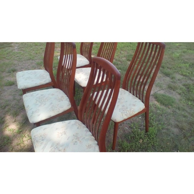 1960s 1960s Danish Modern Dyrlund Teak Dining Chairs - Set of 6 For Sale - Image 5 of 6