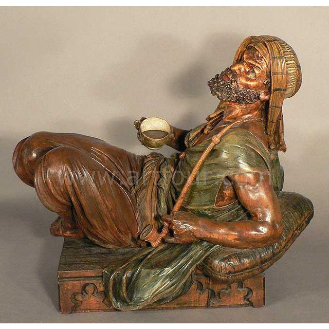 Brown Gorgeous Wooden Carved Arab Vienna Ca. 1900 For Sale - Image 8 of 9