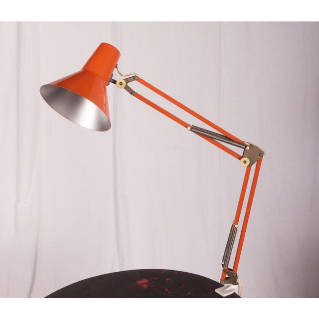 Orange Table Lamp by Luxo, 1970s For Sale - Image 6 of 6