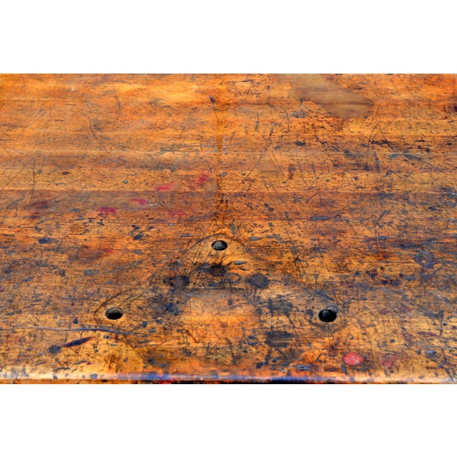 1920s Massive Patinated Industrial Console For Sale In Los Angeles - Image 6 of 9