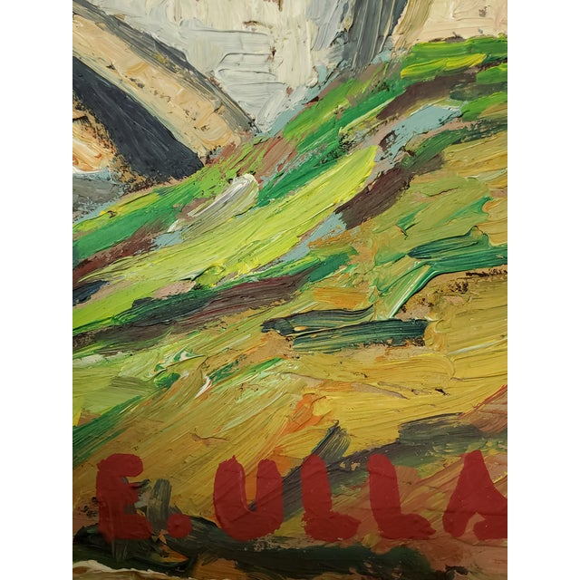 """Mid 20th Century Mid 20th Century """"The Bridge Before the Mountain"""" Painting For Sale - Image 5 of 13"""