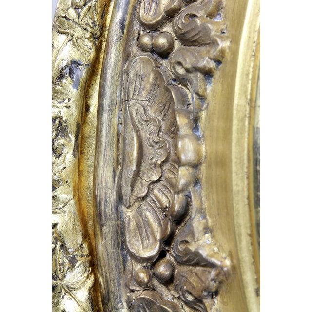 19th Century Victorian Giltwood Convex Mirror For Sale - Image 5 of 7
