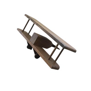 Vintage Retro Wooden Airplane Model For Sale