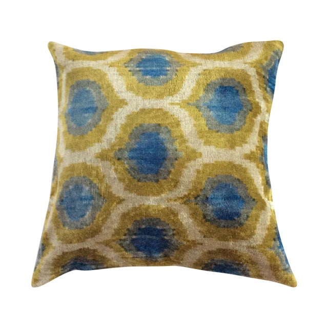 Anatolia Silk Velvet Ikat Pillow - Image 1 of 4