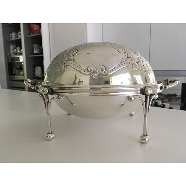 William Hutton & Sons Domed Silver Warming Dish - Image 9 of 10