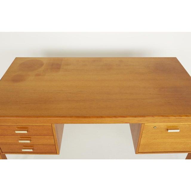 Brown Farso Stolefabrik for Maurice Villency Mid Century Danish Teak Desk For Sale - Image 8 of 13