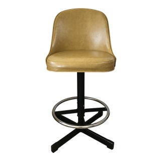 Vintage Samsonite Leather Stool For Sale