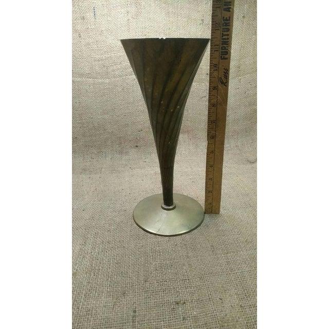 Vintage Brass Fluted Vase - Image 3 of 4