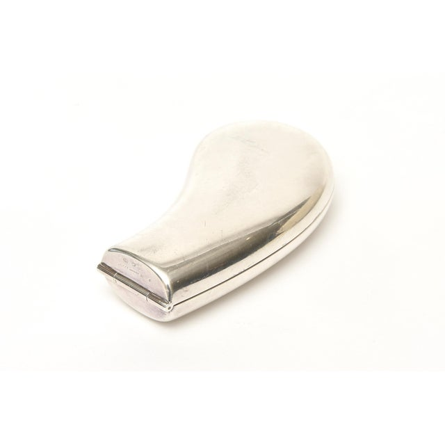 Contemporary Gucci Sterling Silver Sculptural Mirror Compact Vintage For Sale - Image 3 of 10