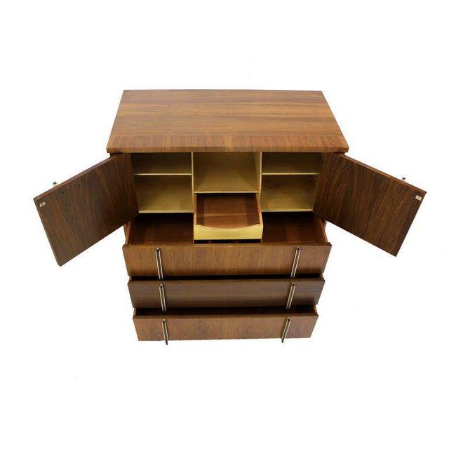 1970s John Widdicomb Mid-Century Modern Walnut High Chest Dresser For Sale - Image 5 of 9