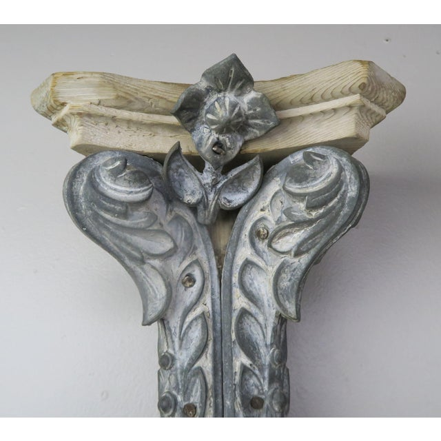 Metal Pair of French Painted Corbels, Circa 1940s For Sale - Image 7 of 13
