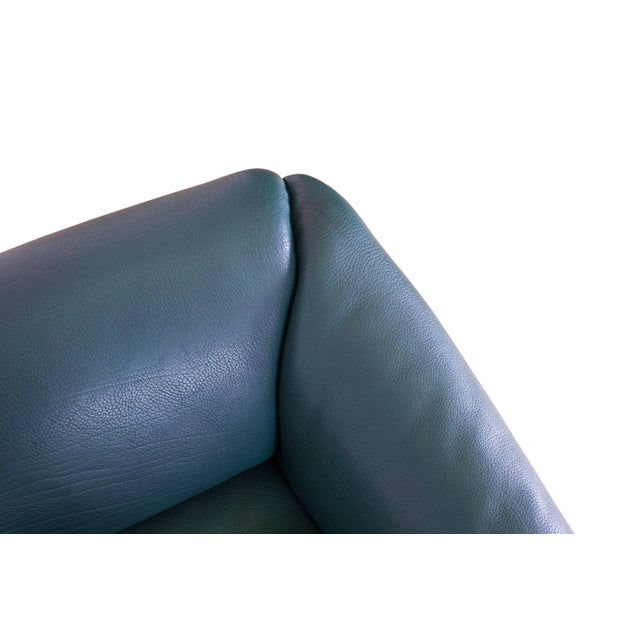 De Sede DS 47 Sofa in Petrol Green Leather For Sale - Image 10 of 12