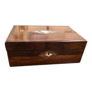 Mid 19th Century Antique English Lap Desk Box For Sale