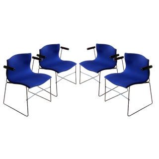 Set of Four Handkerchief Armchairs by Vignelli For Sale