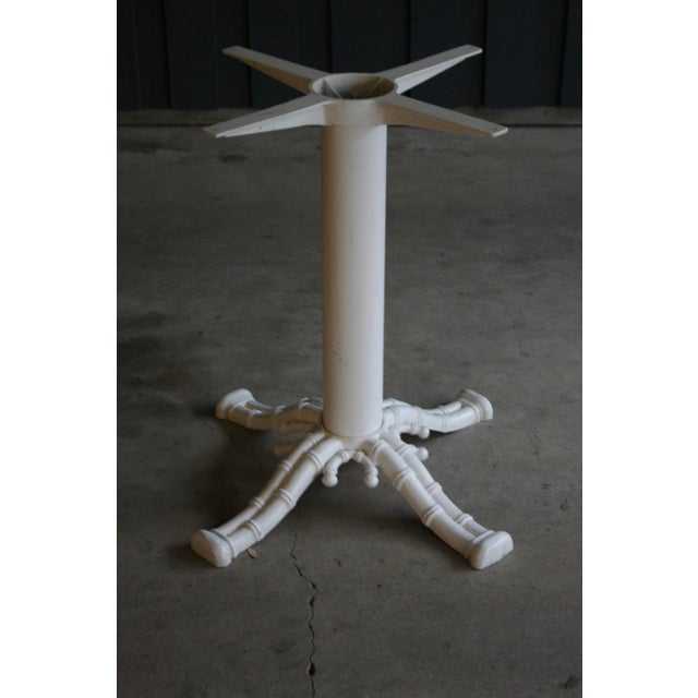 1980s Faux Bamboo White Table Base For Sale - Image 5 of 5