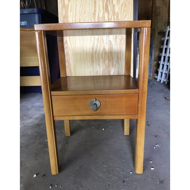 Wood 1950's Landstrom Furniture High Gloss Nightstand For Sale - Image 7 of 8