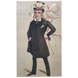 Original 1890 Vanity Fair France Royalty Print, h.r.h. The Duke of Orleans Preview