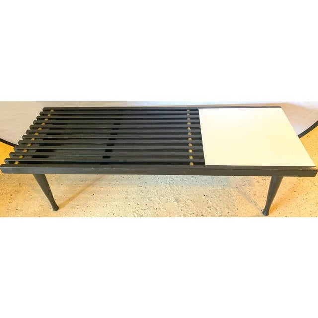 Mid-Century Modern Mid-Century Modern Herman Miller George Nelson Style Coffee Cocktail Table Bench For Sale - Image 3 of 11